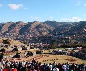 Escenificación del Inti Raymi en Cusco